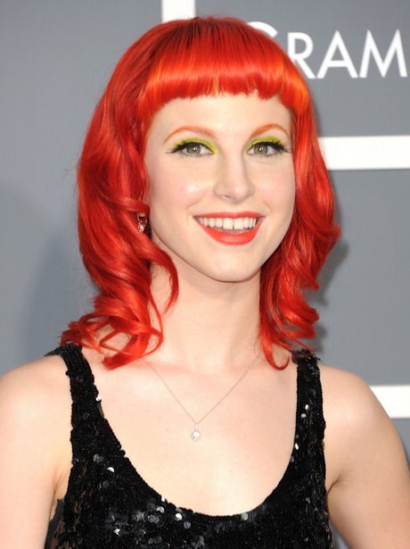 Hayley Williams, of Paramore arrives at the  Gramm