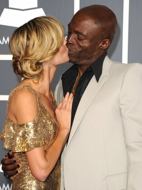 heidi klum and seal arrive at the Grammy  Awards