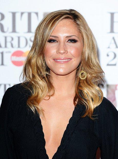 Heidi Range arriving for the 2011 Brit Awards