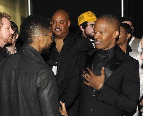 Jamie Foxx and Usher Grammy Awards Backstage