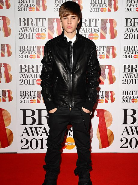 Justin Bieber arriving for the 2011 Brit Awards