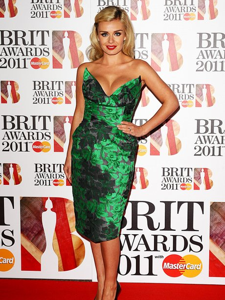 Katherine Jenkins arriving for the 2011 Brit Award