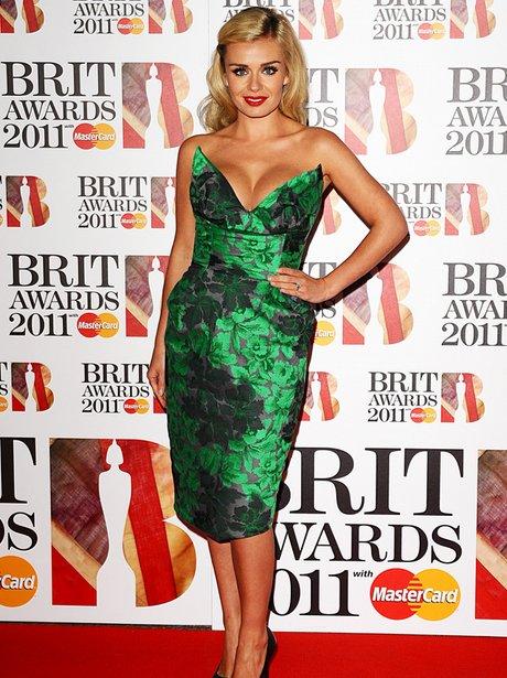 Katherine Jenkins arriving for the 2011 Brit Award