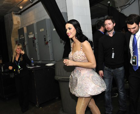 Katy Perry backstage at the Grammy Awards