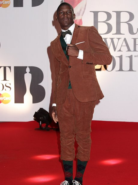 Labrinth arriving for the 2011 Brit Awards