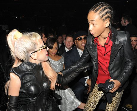 Lady Gaga with Jayden Smith ath the Grammys