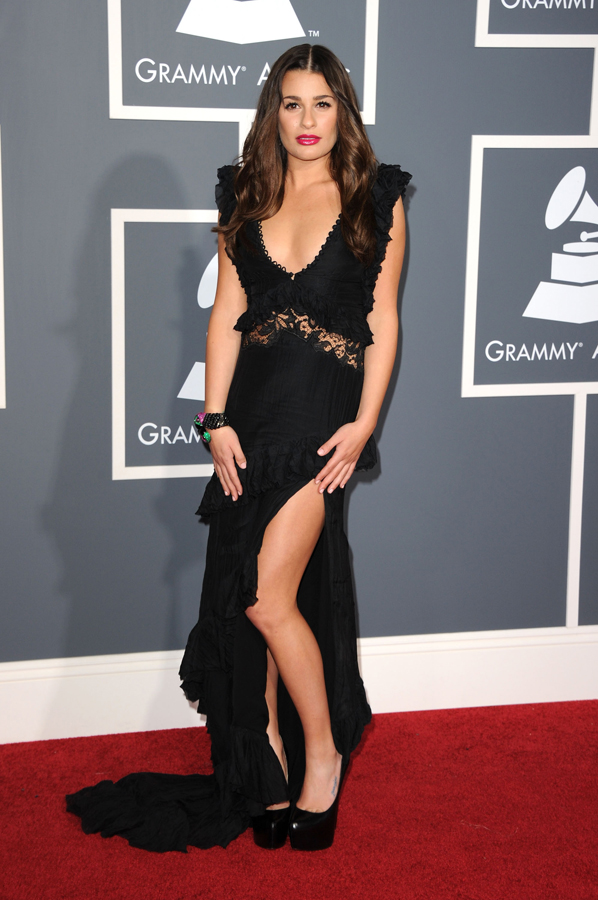 Lea Michele at the Grammy Awards