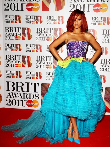 Rihanna at the 2011 BRIT Awards