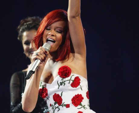 Rihanna at the BRIT Awards