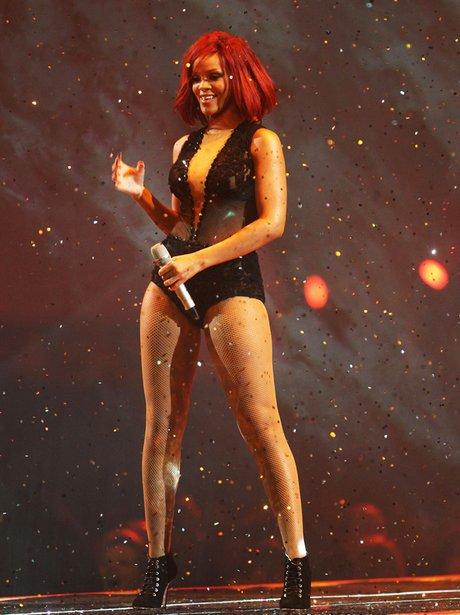 Rihanna live at the Brit Awards
