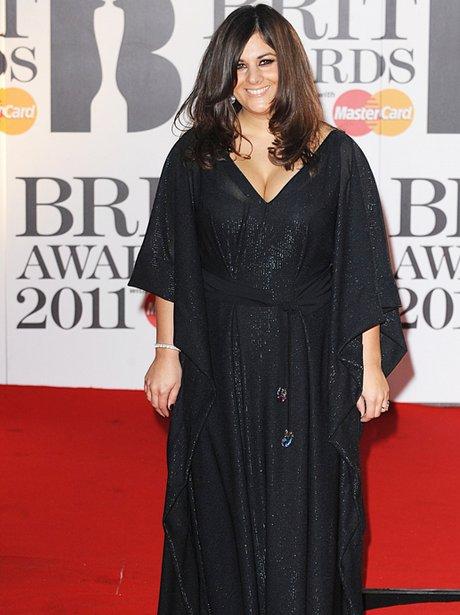 Rumer arriving for the 2011 Brit Awards