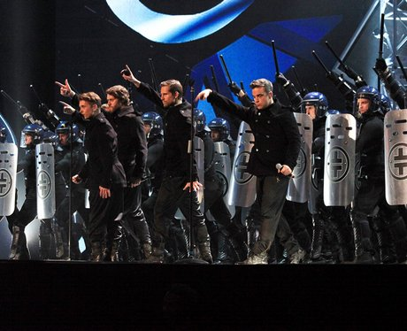 Take That live at the Brit Awards