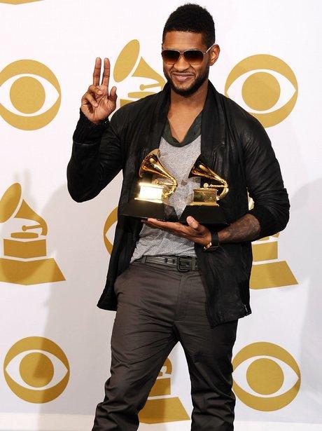 usher with grammy awards