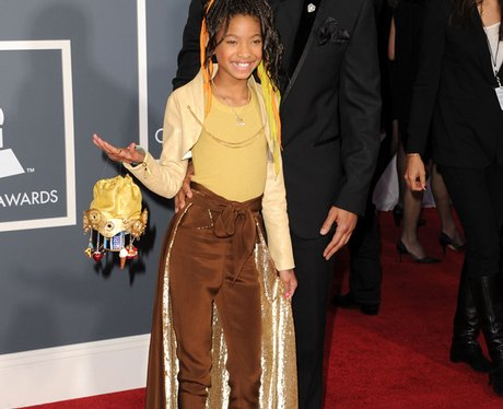 Will Smith and daughter Willow at the  Grammy Awar