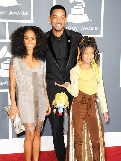 Will Smith Jade and Willow Smith at the Grammy Awa