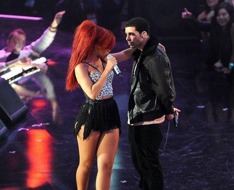Rihanna and Drake live at The NBA All-Star Game
