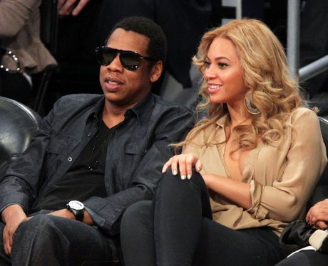 Beyonce and Jay-Z at The NBA All-Star Game