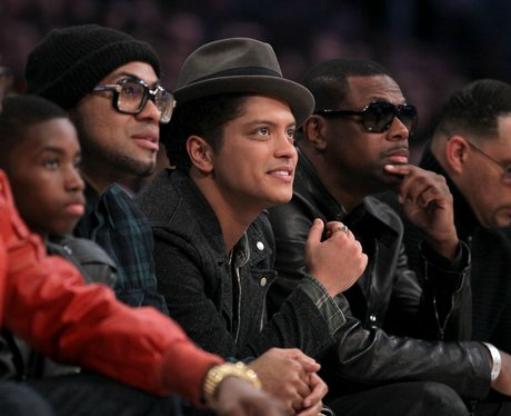 Bruno Mars at The NBA All-Star Game
