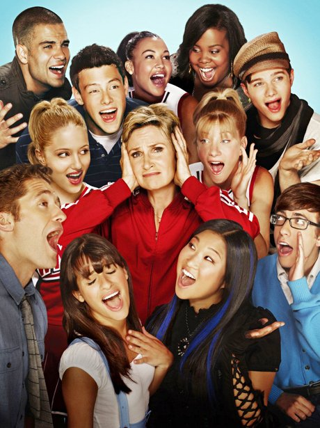 glee cast singing Icona Pop