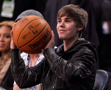 Justin Bieber attends The NBA All-Star Game