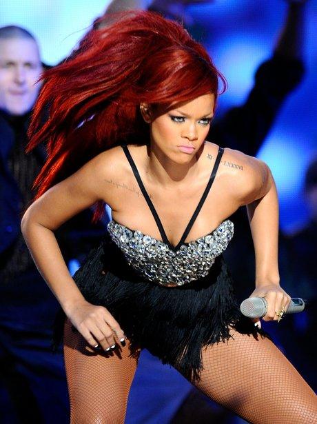 Rihanna live at The NBA All-Star Game