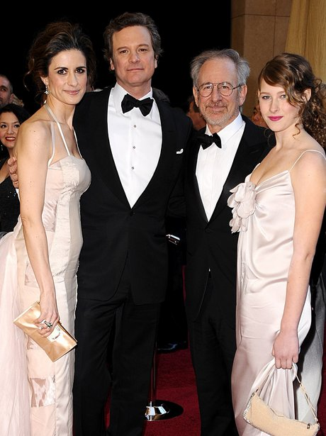 Colin Firth and Steven Spielberg