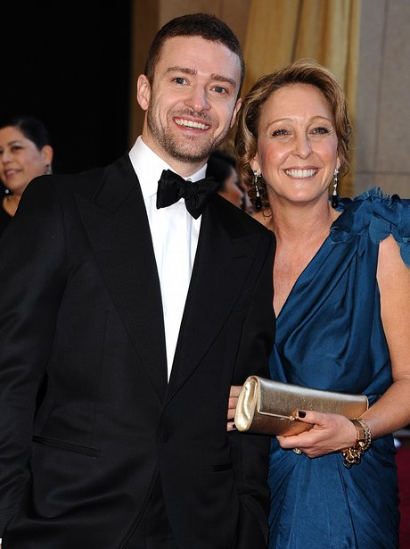 Justin Timberlake with his mum