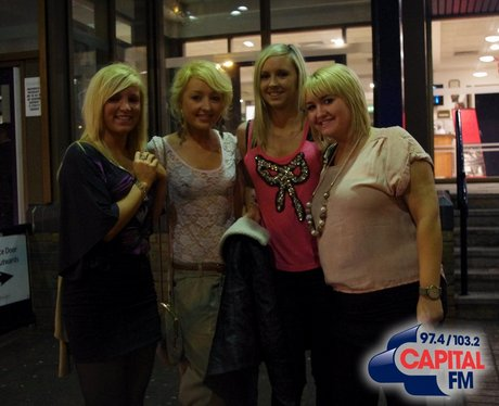 Fans at the Cardiff International Arena