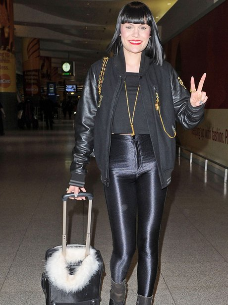 Jessie J arriving in NY