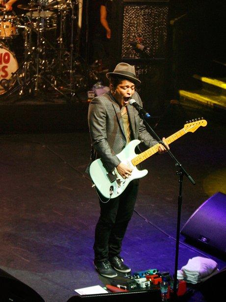 Bruno Mars performs live in concert