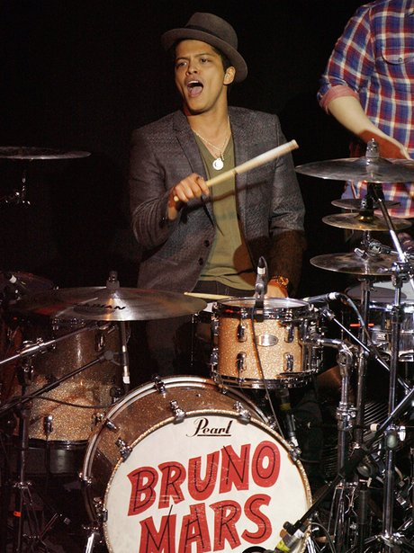 Bruno Mars performs live in concert