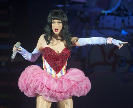 Katy Perry on stage during California Dreams tour in 2011
