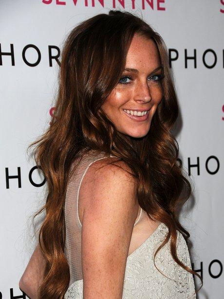 Lindsay Lohan at a Hollywood premiere