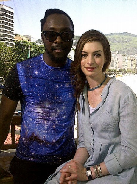 Will.i.am with Anne Hathaway