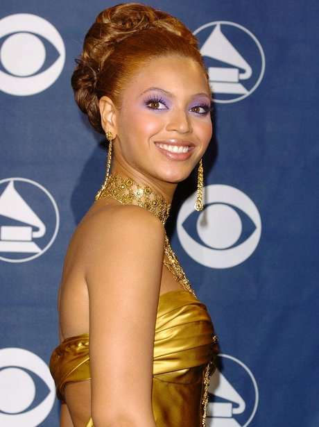 Beyonce in gold dress