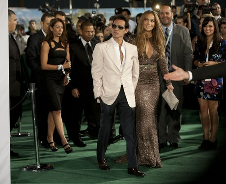 Jennifer Lopez and Marc Anthony arrive at the 2011 Grammys in Las Vegas