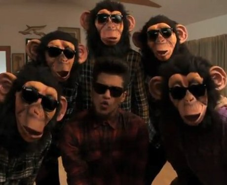 Bruno Mars in 'The Lazy Song' video