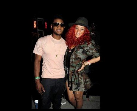 Usher and Rihanna at Coachella