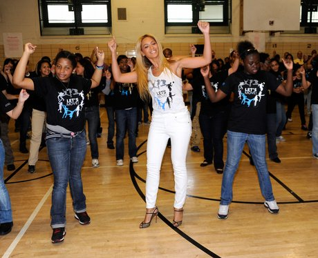 Beyonce Surprises Students