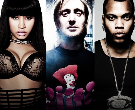 David Guetta on the cover of single 'Where Them Girls At' with Nicki Minaj and Flo Rida