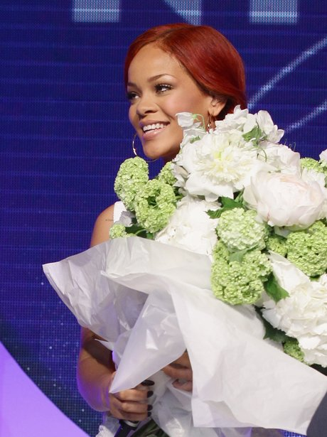 Rihanna performs in Italy