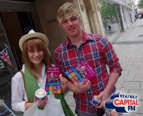 The Street Stars were out and about giving away fr