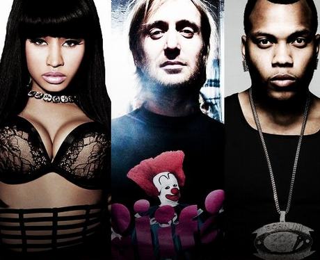 David Guetta on the cover of 'Where Them Girls At' with Flo Rida and Nicki Minaj