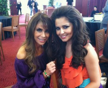 Paula Abdul and Cheryl Cole