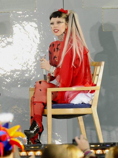 Lady Gaga performs on ABC