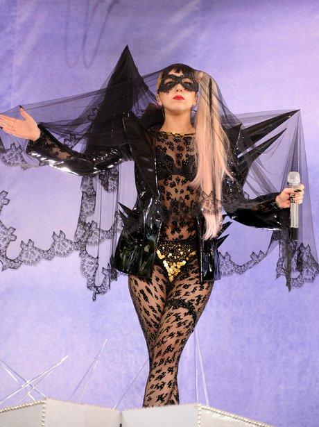 Lady Gaga performs on ABC's 'Good Morning America'