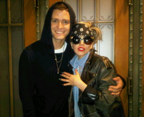 Lady Gaga with Justin Timberlake