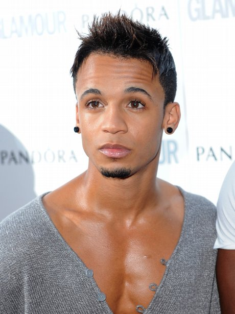 Aston Merrygold from JLS arriving at the Glamour Woman Of The Year Awards in London