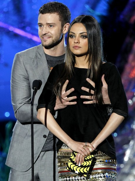 Justin Timberlake and Mila Kunis presenting at MTV Movie Awards