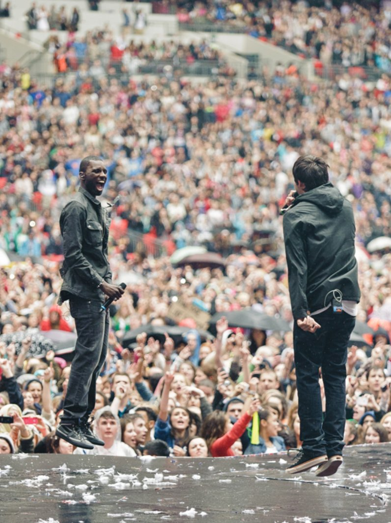 Example and Wretch 32 live at the Summertime Ball
